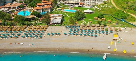 7 nights at the 5* Justiniano Deluxe Resort, Alanya, Antalya