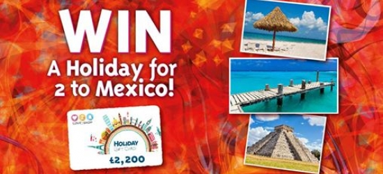 Win a holiday for two to Mexico