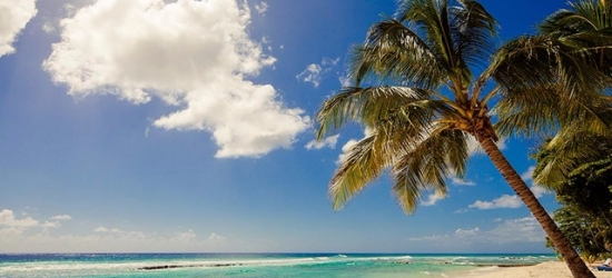 Return full-service flights from London to Barbados from £368
