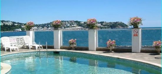 Torquay: Standard or Sea View Double Room for Two with Breakfast, 2-Course Dinner, and Wine at Corbyn Head Hotel