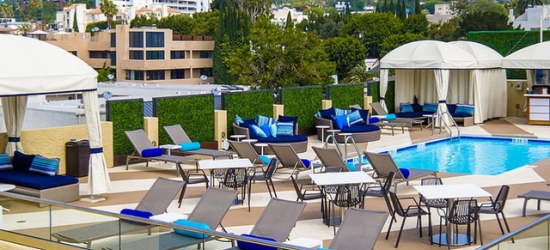 £148 per room per night | All-suite West Hollywood base with a rooftop pool, Montrose West Hollywood, California
