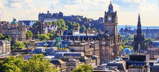 2-night central Edinburgh stay w/breakfast & dinner