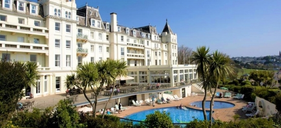 Torquay: Double Room for Two with Breakfast and Three-Course Dinner on First Night at 4* The Grand Hotel Torquay