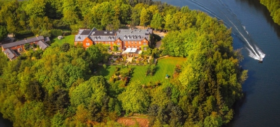 Cheshire: Deluxe Double Room for Two with Breakfast, Prosecco and Optional Cream Tea or Dinner at 4* Nunsmere Hall Hotel