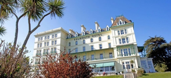 Cornwall: Standard Double Room for Two with Breakfast and Option for Dinner Credit at The Falmouth Hotel