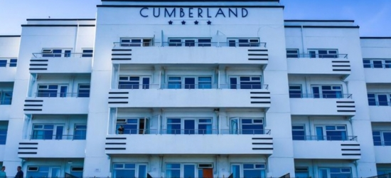 Bournemouth: Up to 2 Nights for Two with Breakfast, Dinner, Wine, Cream Tea and Spa Discount at The 4* Cumberland Hotel