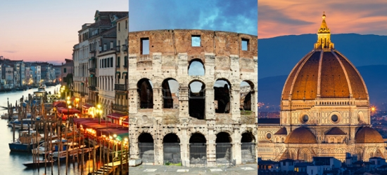 Italy Tour with Flights & Trains - Rome, Florence & Venice!
