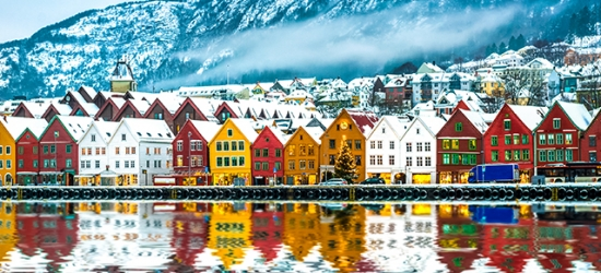 Norway city & fjord winter break with stylish hotel stays & scenic train travel, Oslo, Flåm & Bergen, with a fjord cruise