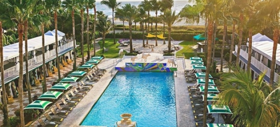 £123 -- Stylish Miami Beach Oceanfront Hotel w/Perks