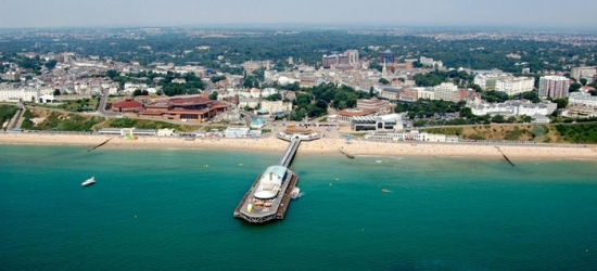 Bournemouth: 1 to 2 Nights for 2 with Breakfast, Dinner, Coffee or Tea with Cake, Wine and Spa Access at Trouville Hotel
