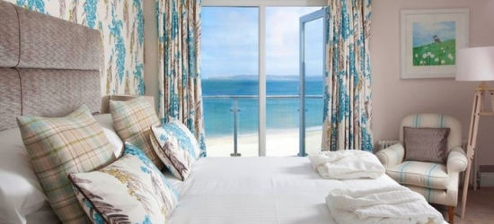 Cornwall: 1, 2 or 3 Nights for Two with Breakfast, Dinner and Wine, and Spa Access at 4* Carbis Bay Hotel & Estate