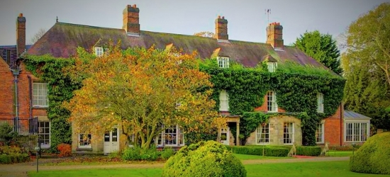 Derbyshire: Standard Double Room for 2 with Breakfast and Option for Afternoon Tea and Dinner at Risley Hall Hotel