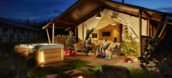 3nt Glamping Lodge Stay for 6, Private Hot Tub & Activities