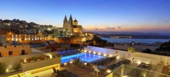 Relaxing Malta holiday with magnificent views, Pergola Hotel & Spa, Mellieha