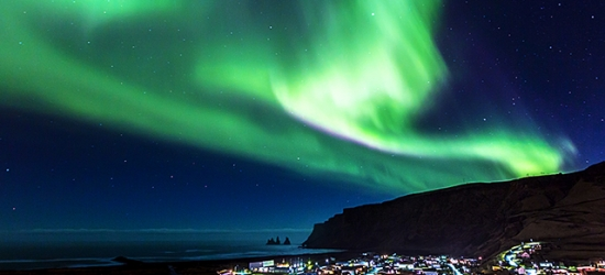 Iceland glacier, volcanoes & waterfalls tour in the land of the Northern Lights, Five-day trip with Northern Lights, Jökulsárlón glacier lagoon & more