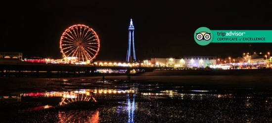 1-2nt Blackpool Break, Two-Course Dinner, Prosecco & Breakfast for 2