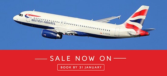 British Airways: Worldwide flights and holidays sale