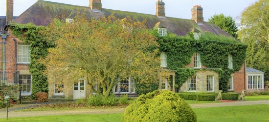 Derbyshire: Standard Double Room for Two with Breakfast and Option for Two-Course Dinner at Risley Hall Hotel