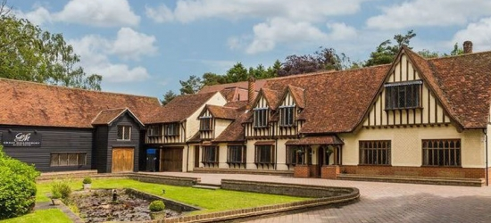 4* Bishop's Stortford Manor Retreat, Breakfast & Dinner for 2