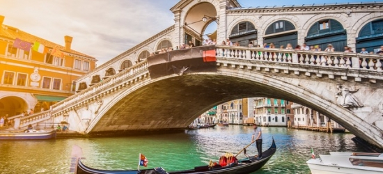 Romantic 2-night Venice city break with a gondola ride