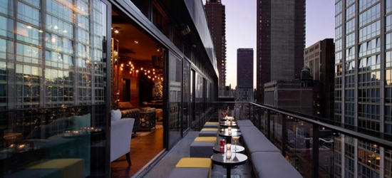 Sumptuous NYC luxury hotel with a rooftop pool
