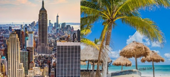 New York & Cancun - Boutique Times Square Hotel & Brand New Cancun Luxury at the The Aliz Hotel Times Square 4* & Royalton Cancun Resort & Spa 5*
