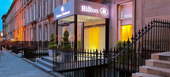 Compact, Guest Double or Deluxe Room for Two with Breakfast and Optional Dinner at Hilton Edinburgh Grosvenor Hotel