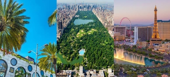8nt New York, Los Angeles & Las Vegas Adventure with Flights