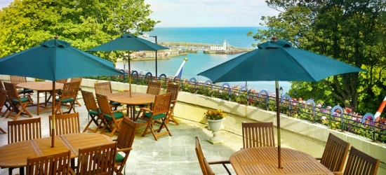 Scarborough: 1 or 2 Nights for Two with Breakfast, Dinner, Wine and Leisure Club Access at The Royal Scarborough