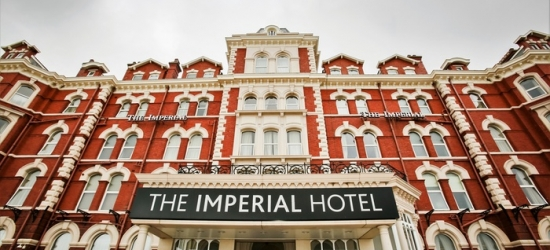 Blackpool: Standard Double Room for Two with Breakfast and Optional Dinner and Afternoon Tea at Imperial Hotel Blackpool