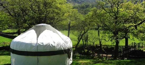 4nt Lake District Yurt Glamping for 4 @ Inside Out Camping