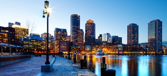 Return flights from London to Boston
