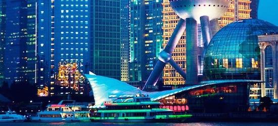 Return flights from London to Shanghai
