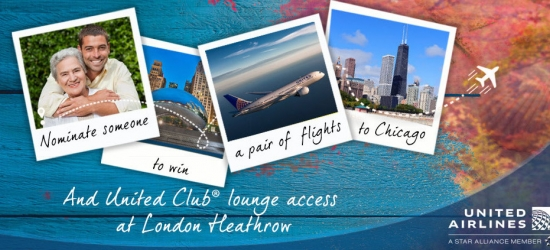 Nominate someone to win a pair of flights to Chicago + airport lounge