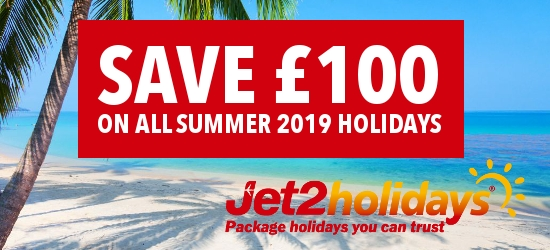Save £100 per person on all summer 2019 holidays