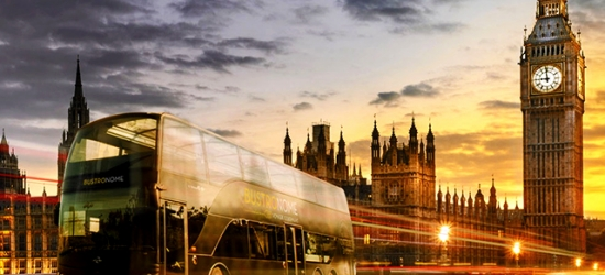 Gourmet dining bus tour with a chic West London stay