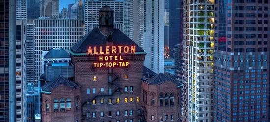 £57 per night | Art Deco skyscraper on Michigan Avenue, Warwick Allerton - Chicago, Illinois