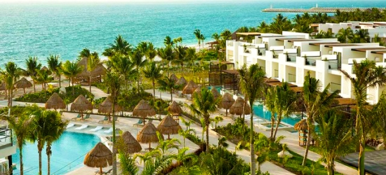 5* all-inclusive Mexico beach escape with a plunge pool suite & upgraded flights, Finest Playa Mujeres, near Cancún