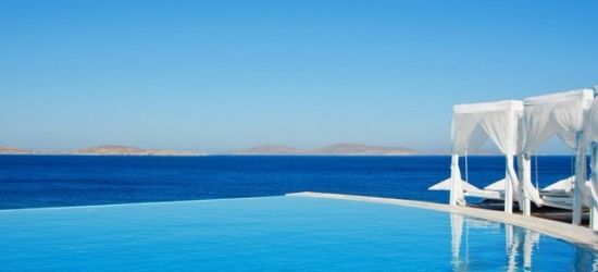 Chic 5* Mykonos holiday at a private beach resort, Saint John Mykonos Hotel, Greece