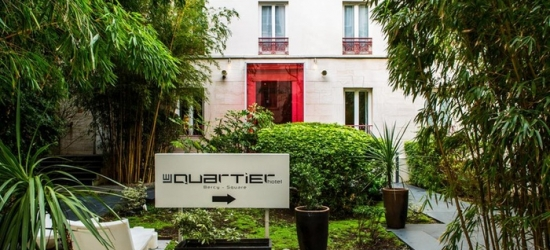 Paris: Double Comfort Room for Two with Option for Breakfast and Glass of Wine at Le Quartier Bercy-Square