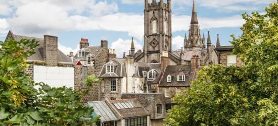 4* Central Aberdeen Retreat & Breakfast for 2 - Dinner & Wine Option