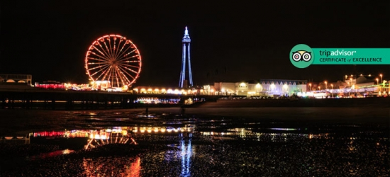 Blackpool Break, Dinner, Prosecco & Breakfast for 2 – Family Option!