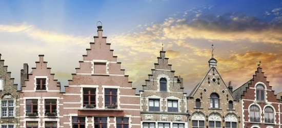 Belgium / Bruges - Cosy Hotel Houses in a Medieval Church in the City Centre at the NH Brugges 4*