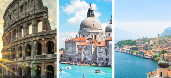 Rome, Venice & Lake Garda Multi-City Adventure, Breakfast & Transfers