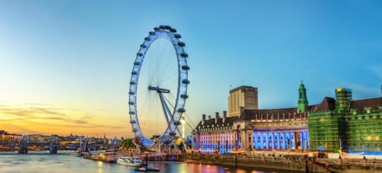 1-2nt 4* London Escape, Breakfast, London Eye & River Cruise