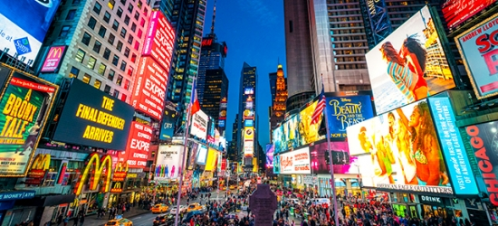 £36pp Based on 2 people per night | Hotel Mela Times Square, Midtown, New York