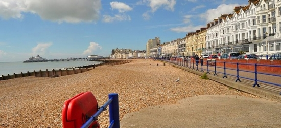 Eastbourne: 1-3 Nights for Two with Breakfast and Wine or 3-Course Meal at The Strand Hotel