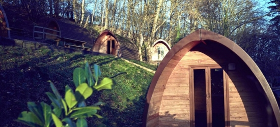 Shropshire: 1- or 2-Night Glamping Pod Stay for Two with Optional Dinner and Early Check-In at Mountain Edge Shropshire