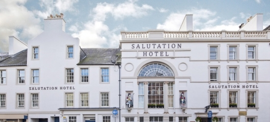 Central Perth: 1 Night for Two with Breakfast, Dinner, Wine, Whisky Tour, and Late Check-Out at The Salutation Hotel