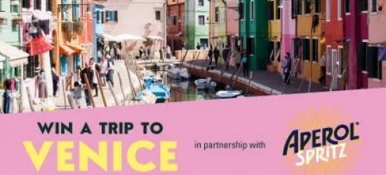 Win a trip for two to Venice